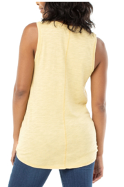 Liverpool Tie Front Tank w/seaming Detail - Front full body