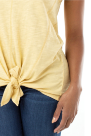 Liverpool Tie Front Tank w/seaming Detail - Side cropped