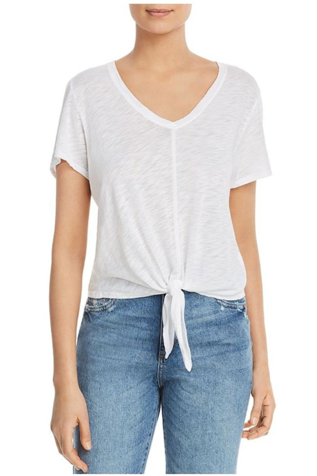 Elan Tie Front Tee - Front Cropped Image