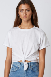 Cotton Candy  Tie Front Tee - Front cropped