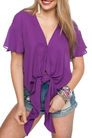 Buddy Love Tie Front Top - Product Mini Image