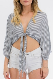 Olivaceous Tie Front Top - Product Mini Image