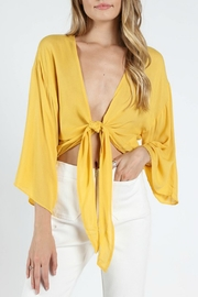 Wild Honey Tie Front Top - Product Mini Image