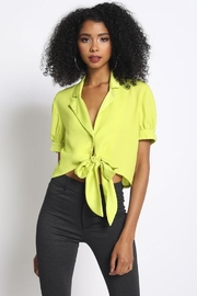 Sans Souci Tie Front Top - Product Mini Image