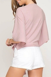 She + Sky Tie Front Top - Side cropped