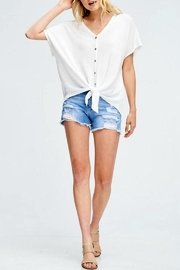 Cherish Tie Front Top - Front cropped