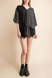 Mittoshop Tie Front Woven-Top - Other