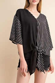 Mittoshop Tie Front Woven-Top - Front cropped