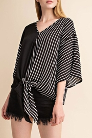 Mittoshop Tie Front Woven-Top - Front full body