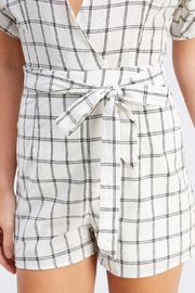 Favlux Tie Grid Romper - Back cropped