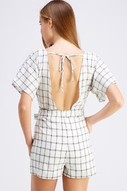 Favlux Tie Grid Romper - Side cropped