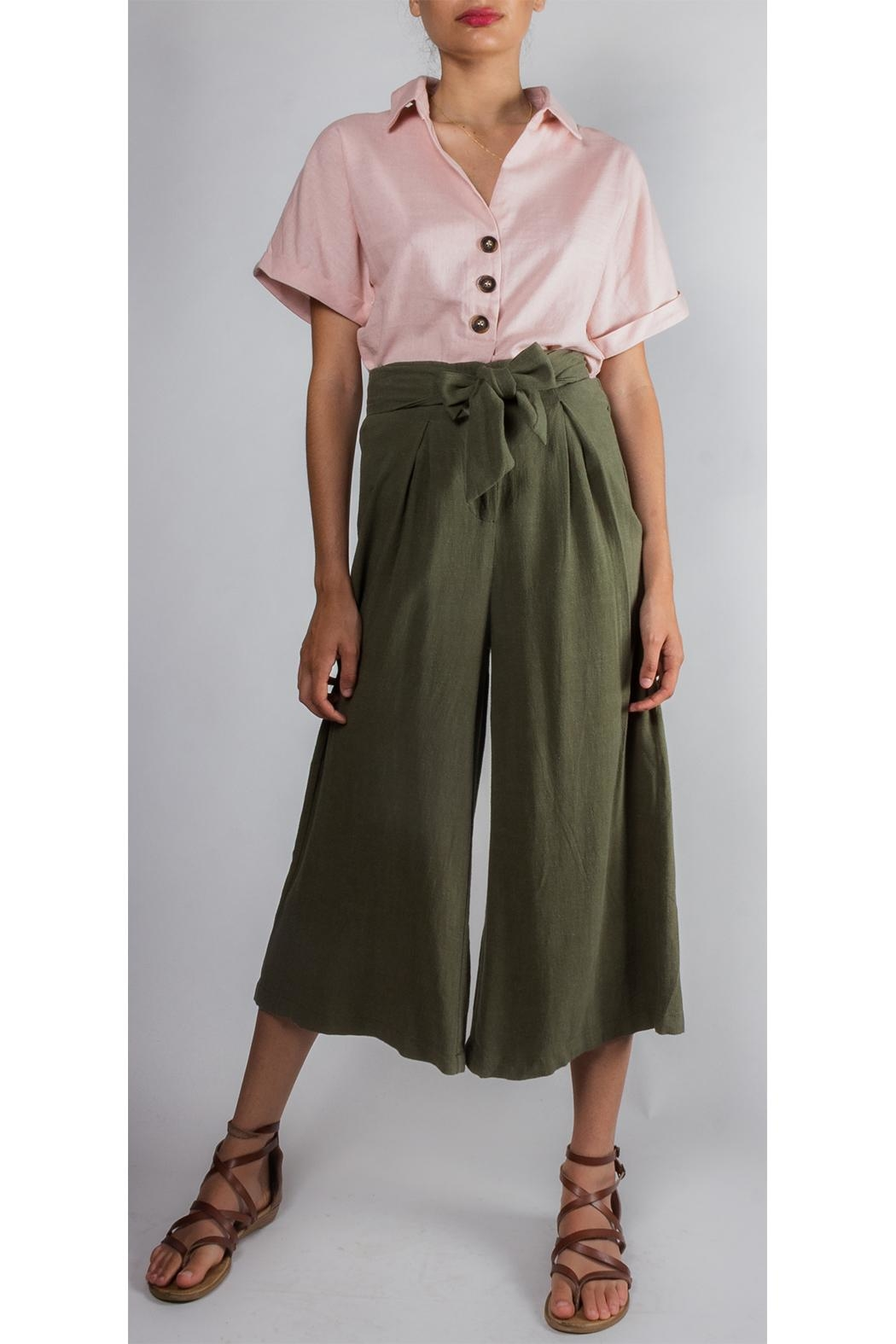 f9a8e02ea3f Illa Illa Tie High-Waisted Linen-Pants from Los Angeles by Goldie s ...