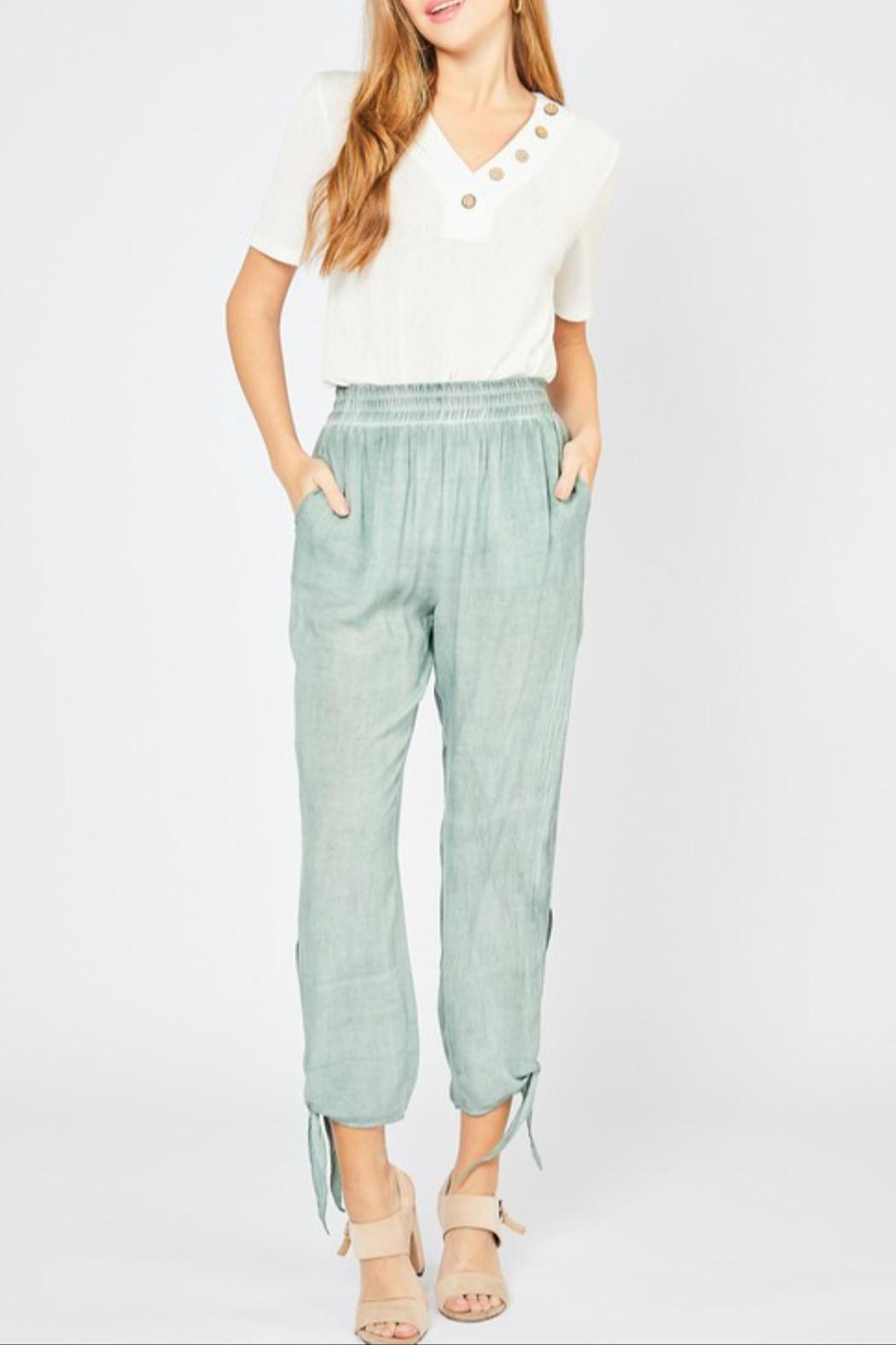 Entro Tie Jogger Pant - Front Cropped Image