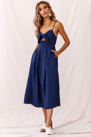 Selfie Leslie Tie-Knot Bust Dress - Front cropped