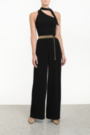 Zimmermann Tie Neck Jumpsuit - Black - Product Mini Image