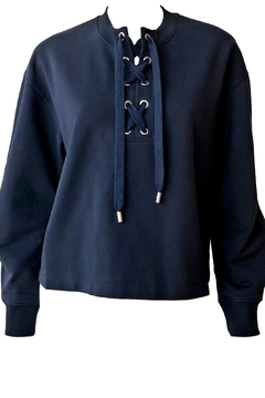 Tibi Tie Neck Sweatshirt - Product List Image