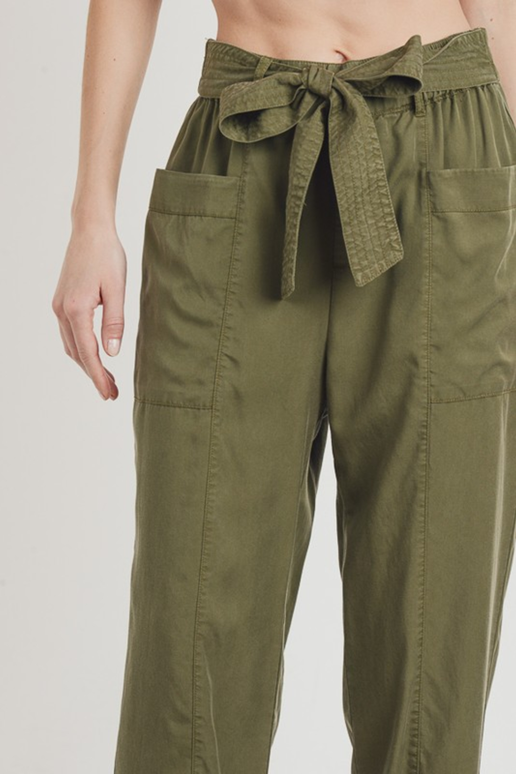 R+D  Tie Pant with Pockets - Front Full Image