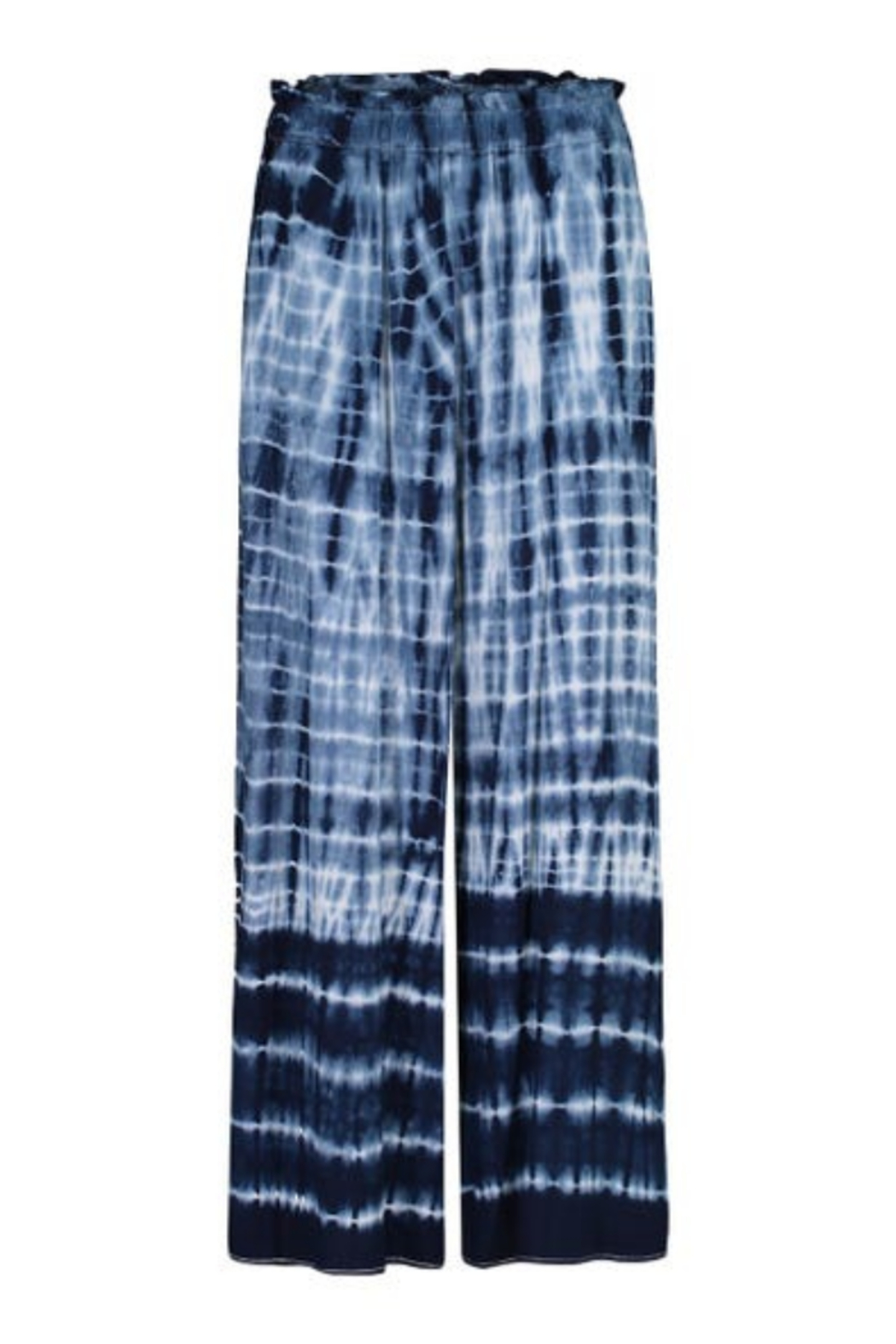 tribal  Tie Pants With Side Slit - Side Cropped Image