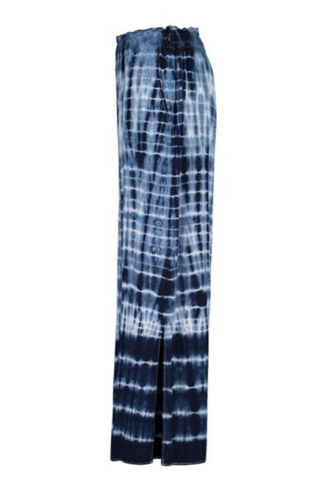 tribal  Tie Pants With Side Slit - Back Cropped Image