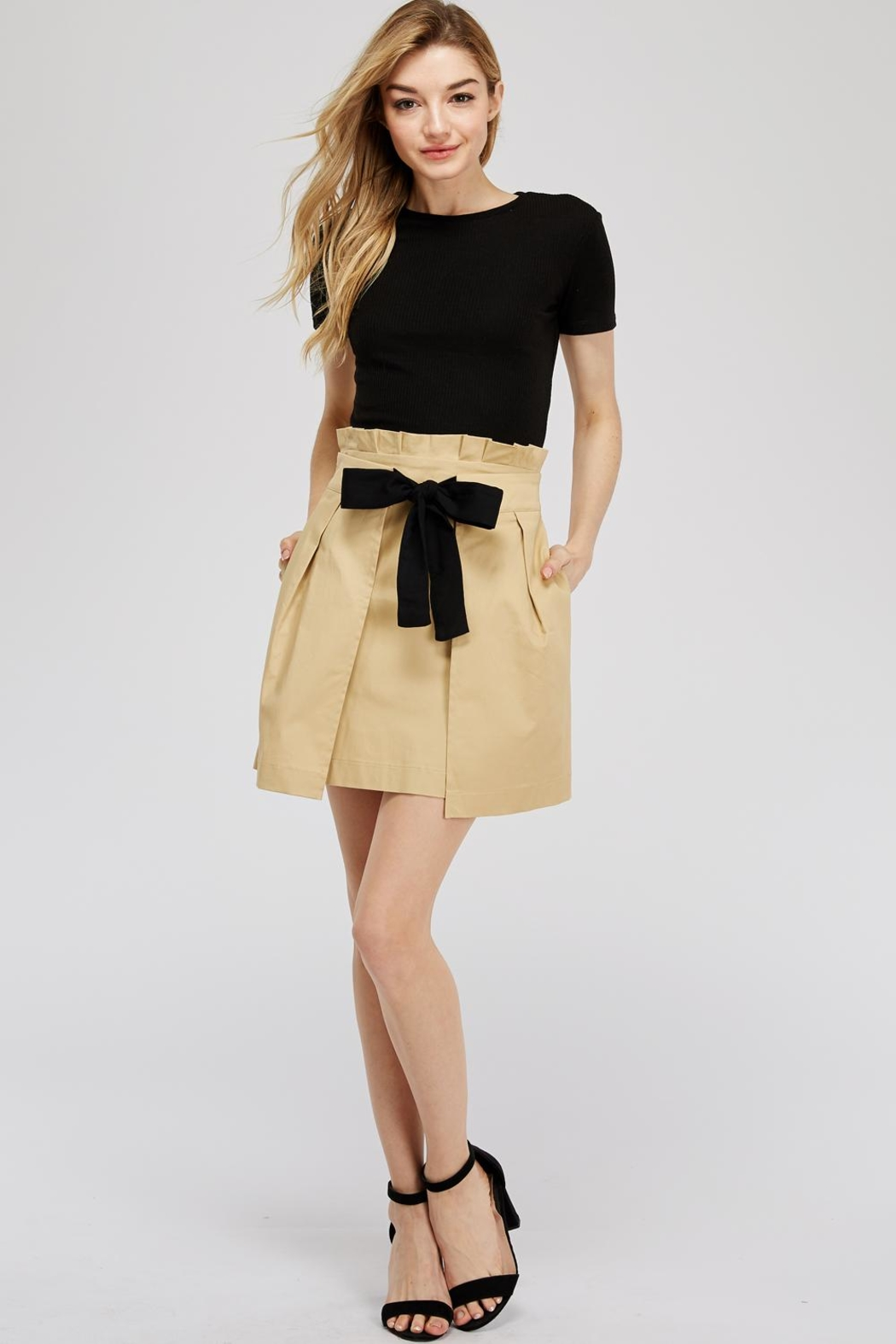 Do & Be Tie Paperbag Skirt - Front Full Image