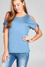 ambiance apparel Tie Shoulder Top - Front full body