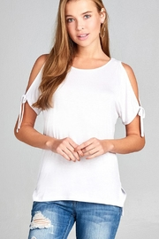ambiance apparel Tie Shoulder Top - Product Mini Image