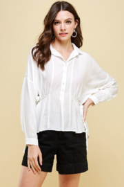 Pinch Tie Side Shirt - Product Mini Image