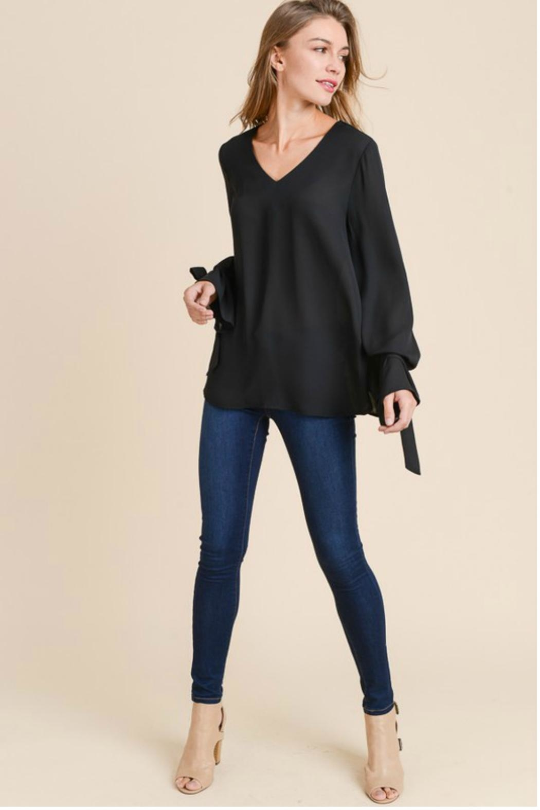 Towne Tie Sleeve Blouse - Front Full Image