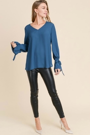 Towne Tie Sleeve Blouse - Product Mini Image