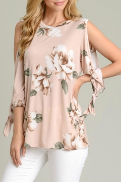 Shoptiques Product: Tie-Sleeve Floral Tunic