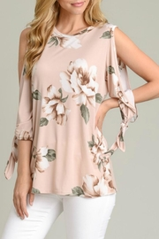 vanilla bay Tie-Sleeve Floral Tunic - Product Mini Image