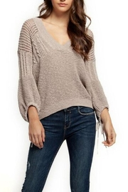 Dex Tie-Sleeve Knit Sweater - Product Mini Image