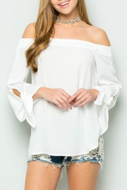 ee:some Tie-Sleeve Off-Shoulder White-Must-Have - Product Mini Image