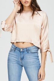 The Clothing Co Tie Sleeve Satin Top - Product Mini Image