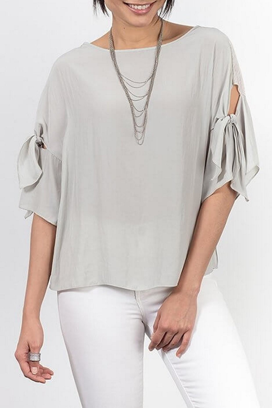 Lola & Sophie Tie Sleeve Tee - Front Cropped Image