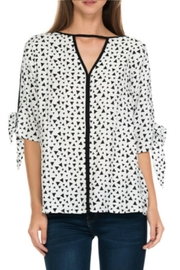 Cubism Tie Sleeve Top - Product Mini Image