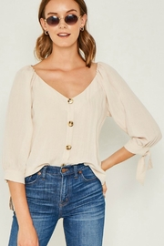 Hayden Los Angeles Tie Sleeve Top - Product Mini Image
