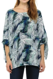 Cubism Tie Sleeve Top - Front cropped