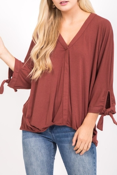 LoveRiche Tie Sleeve Top - Product List Image