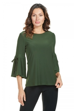 Frank Lyman Tie Sleeve Top, Moss - Product List Image