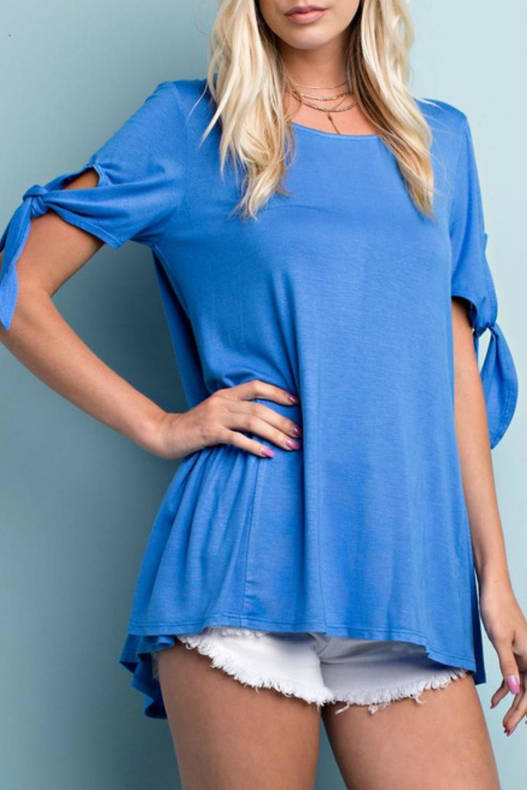 143 Story Tie Sleeve Tunic - Front Full Image