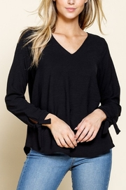 Mittoshop TIE SLEEVE WOVEN TOP - Product Mini Image