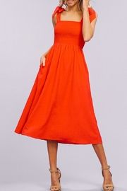 Listicle Tie-Strap Smocking Midi-Dress - Other