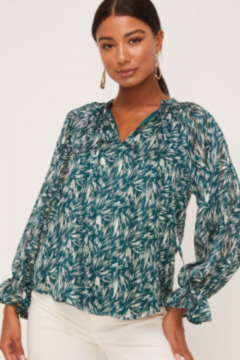 Lush Tie String Balloon Sleeve Blouse - Product List Image