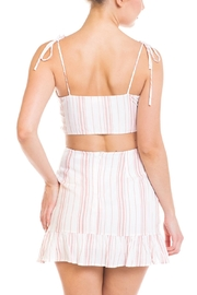 Emory Park Tie Stripe Skirt-Set - Back cropped