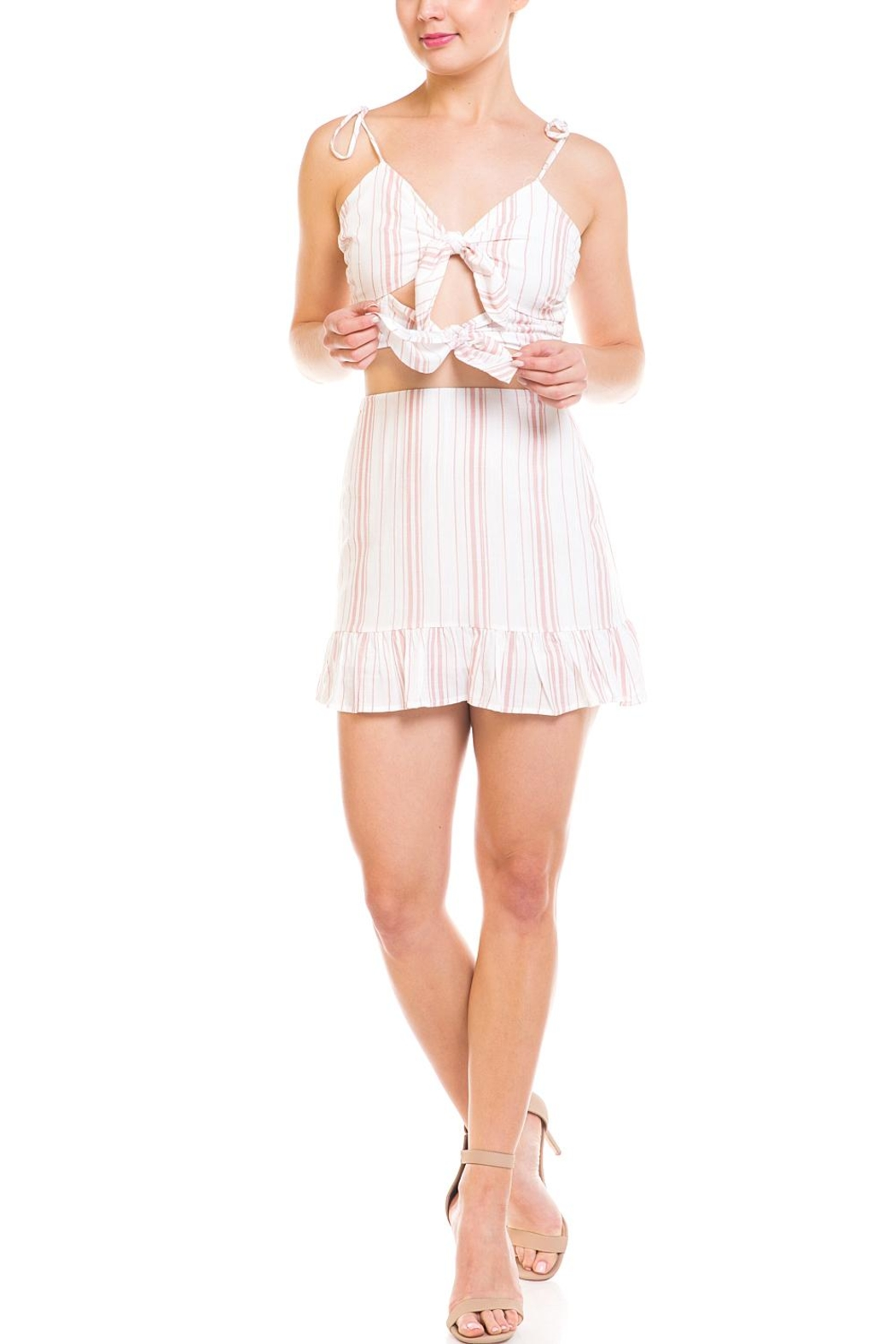 Emory Park Tie Stripe Skirt-Set - Main Image