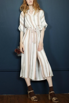 En Creme Tie Striped Maxi - Product List Image