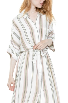 En Creme Tie Striped Maxi - Alternate List Image