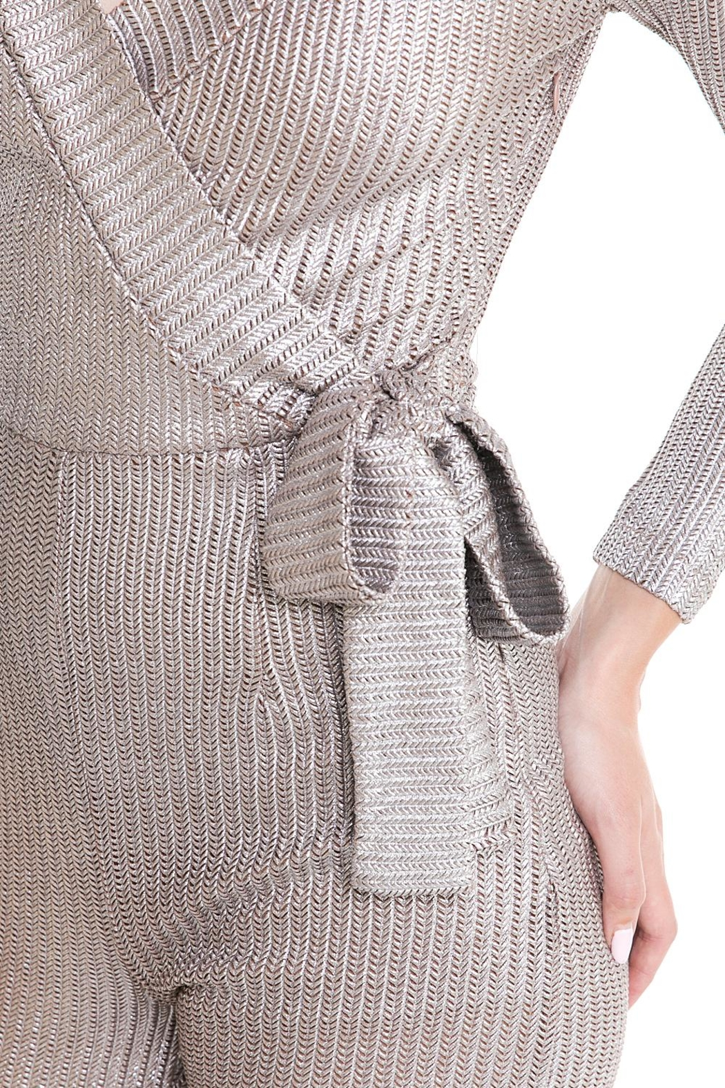 luxxel Tie Sweater Jumpsuit - Front Full Image