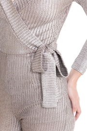 luxxel Tie Sweater Jumpsuit - Front full body